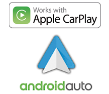 Apple CarPlay und Android Auto kompatibel