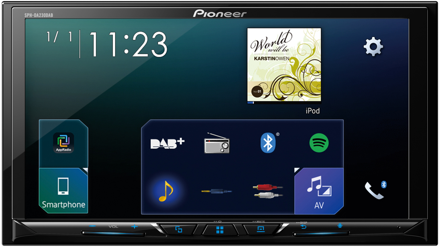 pioneer sph da230 apple carplay u android auto moniceiver. Black Bedroom Furniture Sets. Home Design Ideas