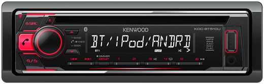 kenwood kdc bt510u bluetooth autoradio carhifi b nde. Black Bedroom Furniture Sets. Home Design Ideas