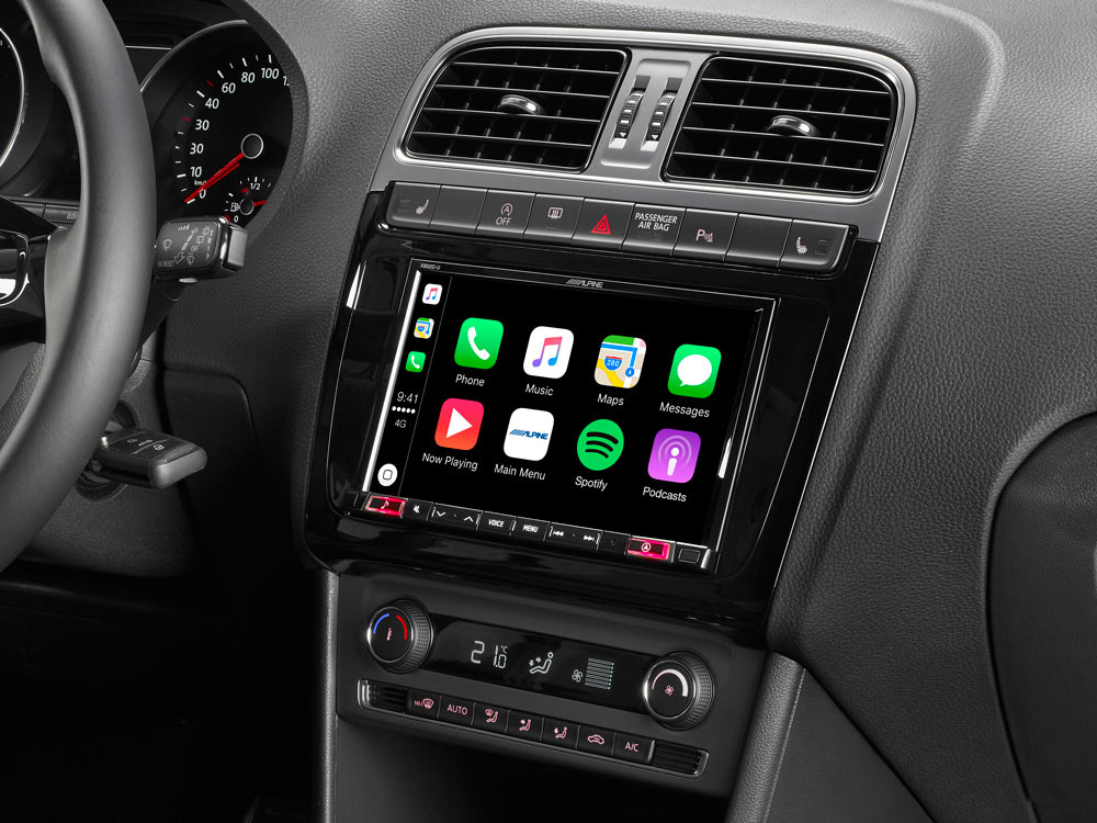 alpine x802d p6c vw polo 6c navigation mit apple carplay. Black Bedroom Furniture Sets. Home Design Ideas